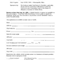 National Easter Seals Society University of Minnesota Disability Leadership Forum September 23-24, 1995 Minneapolis, MN [3]