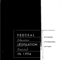 [Federal Education Legislation] [1]