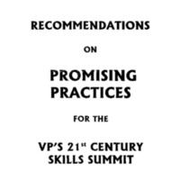 Recommendations on Promising Practices [Binder] [1]
