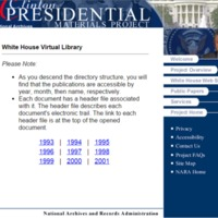 Clinton Administration White House Virtual Library