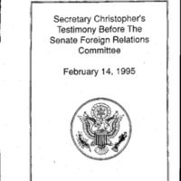 Secretary W. Christopher - Russia Speech, 3/29/95