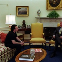 Bono with President Clinton