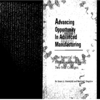 Advancing Opportunity in Advanced Manufacturing [publication]