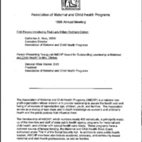 Association of Maternal and Child Health Programs [Informational Packet]