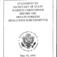 Secretary W. Christopher - Strategic Overview, 1993-95