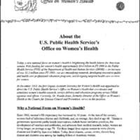 Health Reform-US Public Health Services Office on Women's Health