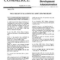 Dept. of Commerce - Economic Development Administration [1]