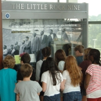 Students viewing Little Rock Nine exhibit.jpg