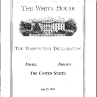 Mideast - Washington Declaration