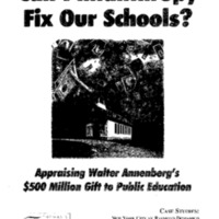 Can Philanthropy Fix Our Schools [publication]
