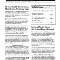 NAEP [National Assessment of Educational Progress] Trend Report [1]