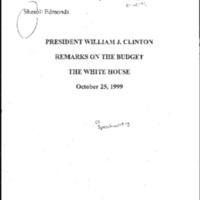Budget Remarks 10/25/99 [2]