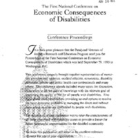 [Economic Consequences of Disabilities]