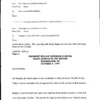 CTBT [Comprehensive Test Ban Treaty] Fall 1999