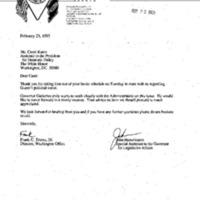 Meeting with John Hasselmann & Frank Torres 21 Feb. 1995 2:15 - 2:45pm