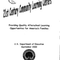 Community Learning Centers [publication] [Folder 3]