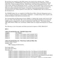 Hillary Rodham Clinton - Collection Finding Aid