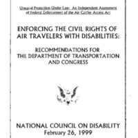 Enforcing the Civil Rights of Air Travelers with Disabilities [publication]