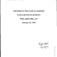 Budget Statement 10/29/99
