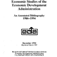 Dept. of Commerce - Economic Development Administration [3]