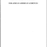 C/G [Clinton/Gore] Stump Speech for African American Audiences
