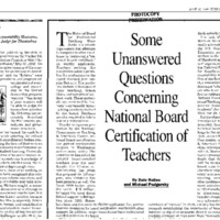 """NBPTS [National Board for Professional Teaching Standards] / """"Master Teacher"""""""