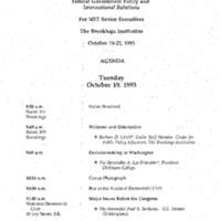 Brooking Institute Seminar 10-19-93 2:00-3:00