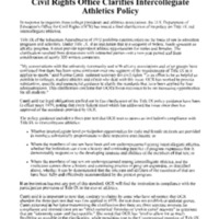 Title IX and Athletics [1]