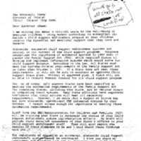 Child Support Enforcement-Computer Systems-Shalala Letter to Governors