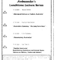 Luncheon Ambassador and Mrs. Russell Friday, 14 Oct. 1994 2:00
