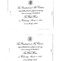 Invitation - Ceremony, International Women's Day [includes insert] 3/11/98