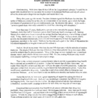 Remarks on Recent Congressional Issues (PBOR [Patients Bill of Rights], Prescription Drugs, ect…) [2]