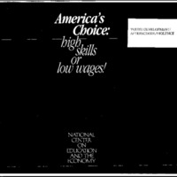 Youth Development/Afterschool/Violence-America's Choice-High Skills of Low Wages [Bound Material]