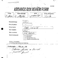 Archives Box-Review Forms, Non-Gold Financial Assets Team, Saviano, Murphy (5-1-00--) [2]