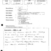Archives Box-Review Forms, Others, Bendix, McMurray, Schmidt, History Associates [7]