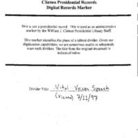 HRC Foreign Speeches 1994-97: Vital Voices Speech, Austria Center, Vienna, Austria 7/11/97