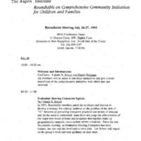 Aspen Conference 26, 27 July 1994