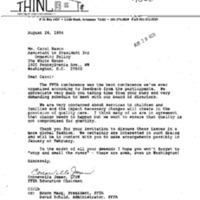 THINC [Treatment Homes Incorporated]/Consevella James 17 August 1994 Mtg. w/Board of Directors (Hyatt Hotel)