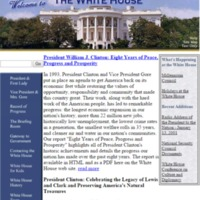 Clinton Administration Website Version 5