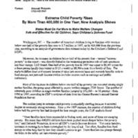 Poverty/Child Poverty/CDF [Children's Defense Fund] Report 8-99