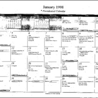 Presidential Calendar