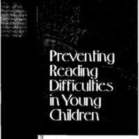 Preventing Reading Difficulties in Young Children [publication] [Folder 1]