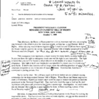PBOR [Patients' Bill of Rights] Statements 10/7/99
