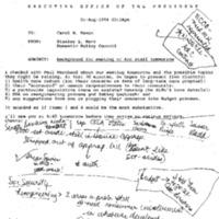 Arc/Marchand 2 August 1994 10:00-10:30 a.m. (CHR's Office ) (Manifest: Martha Ford, Kathleen McGinley, Seth Firmender) DPC Staff: S.