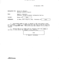 Declassified Documents Concerning International Broadcasting