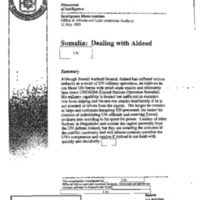 Declassified Documents Concerning Somalia