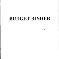Budget [Binder]