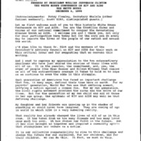 White House Conference on AIDS, Washington, D.C. 12-6-95 [1]