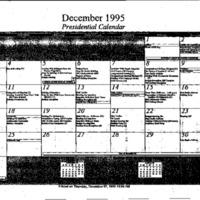 Presidential Calendars