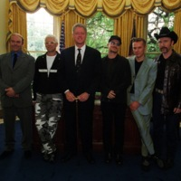U2 Meeting President Clinton